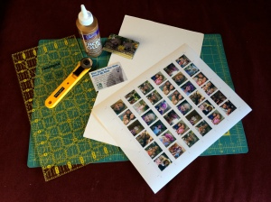 Mother's Day gift idea. Easy to make mini Polaroid magnets with a link to a free template and instructions.